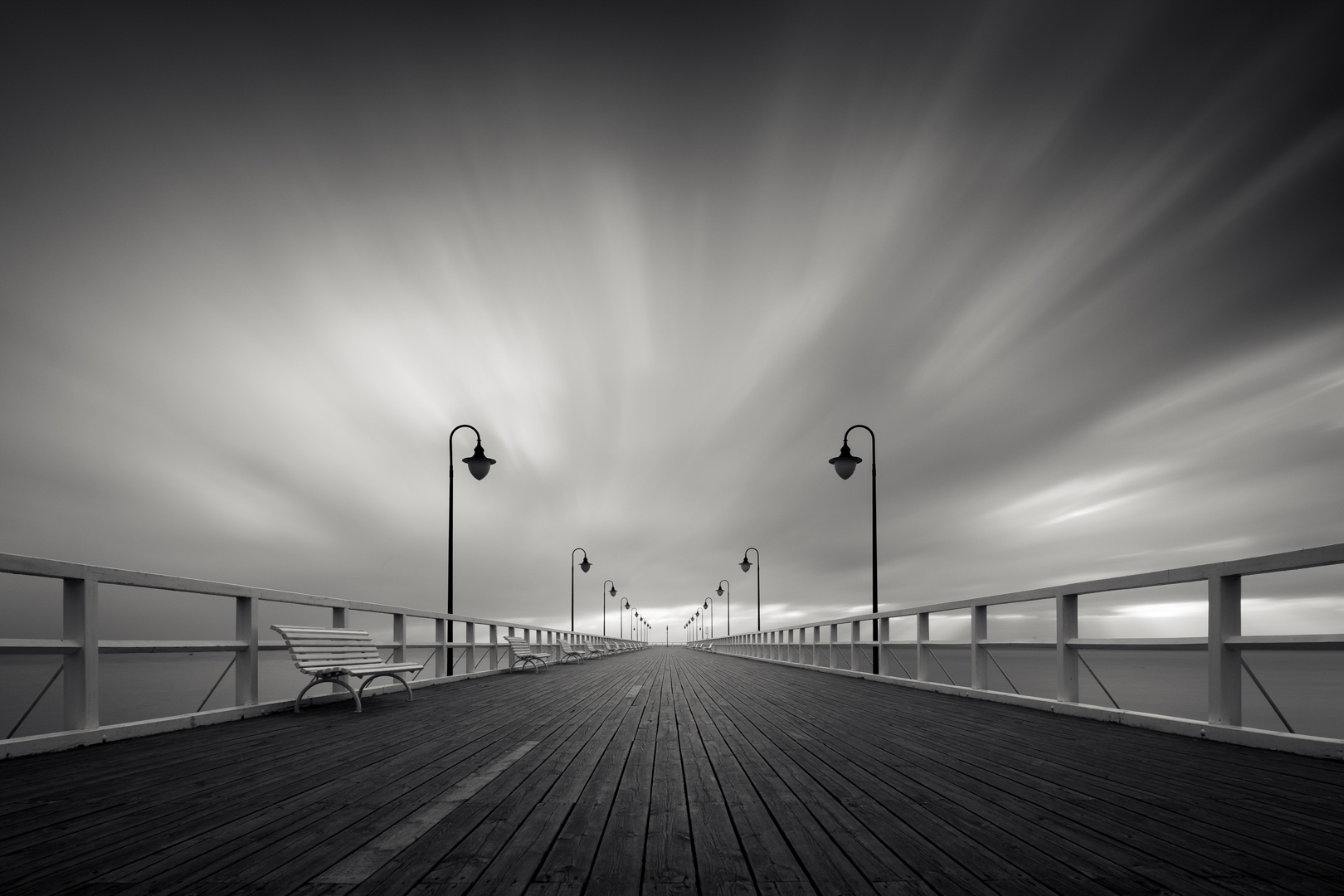 Pier in the morning II