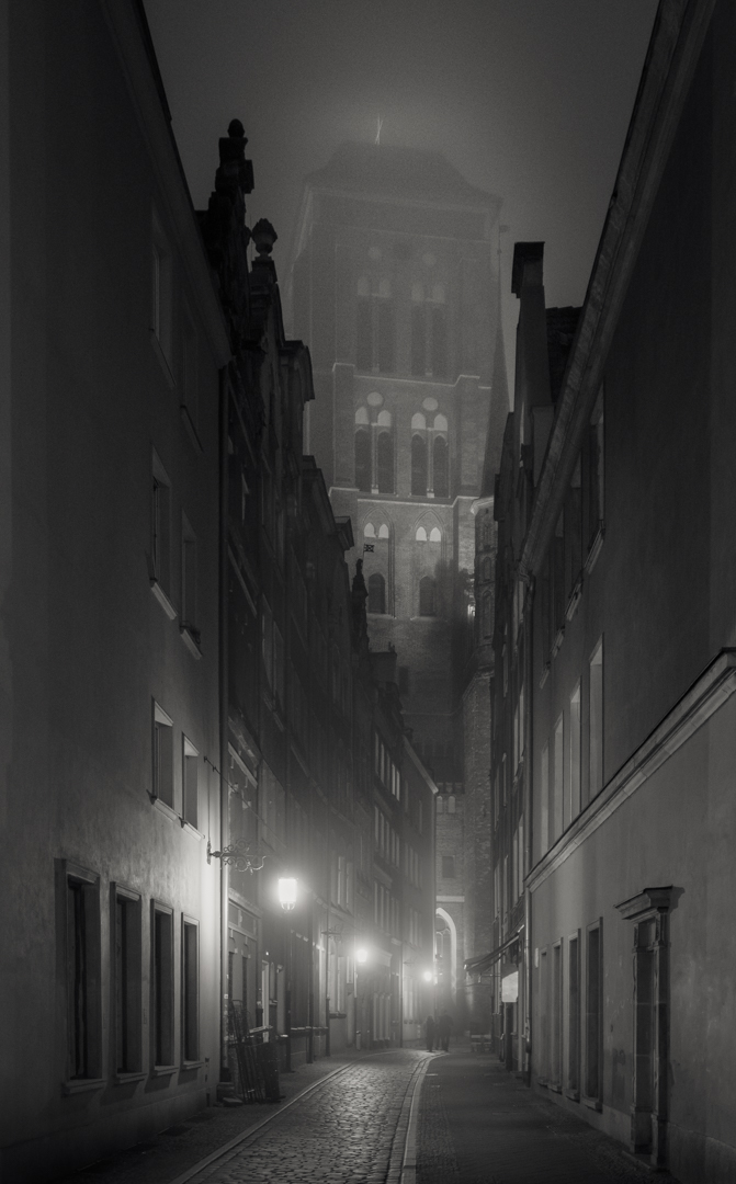 Narrow street in Gdansk