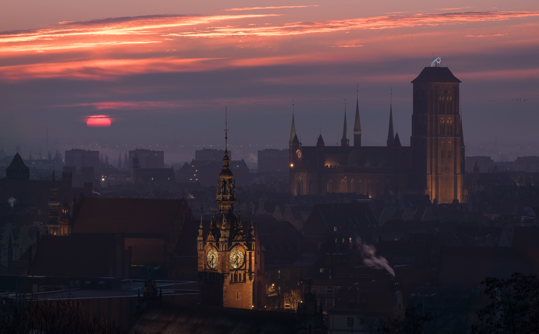 Sunrise in Gdansk